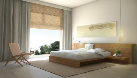 Idee Zen Camera Letto: Colori Tenui e Linee Essenziali
