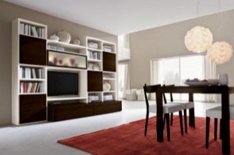 Parete soggiorno componibile fantasia praticit for Arte casa complementi d arredo